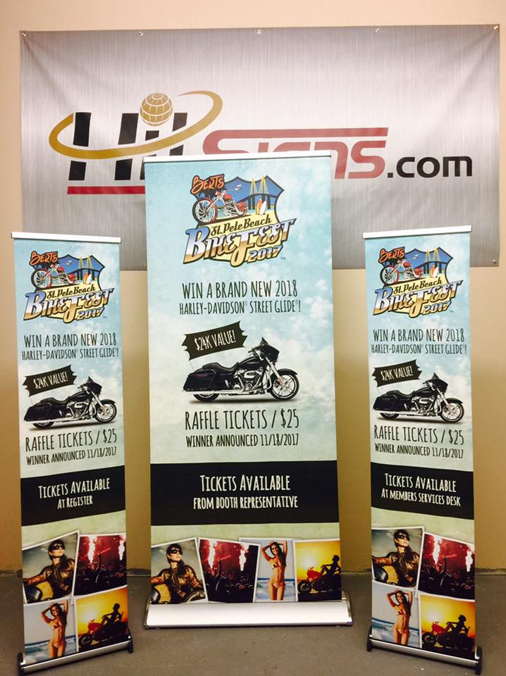 Banner stands for all shapes and size banners.