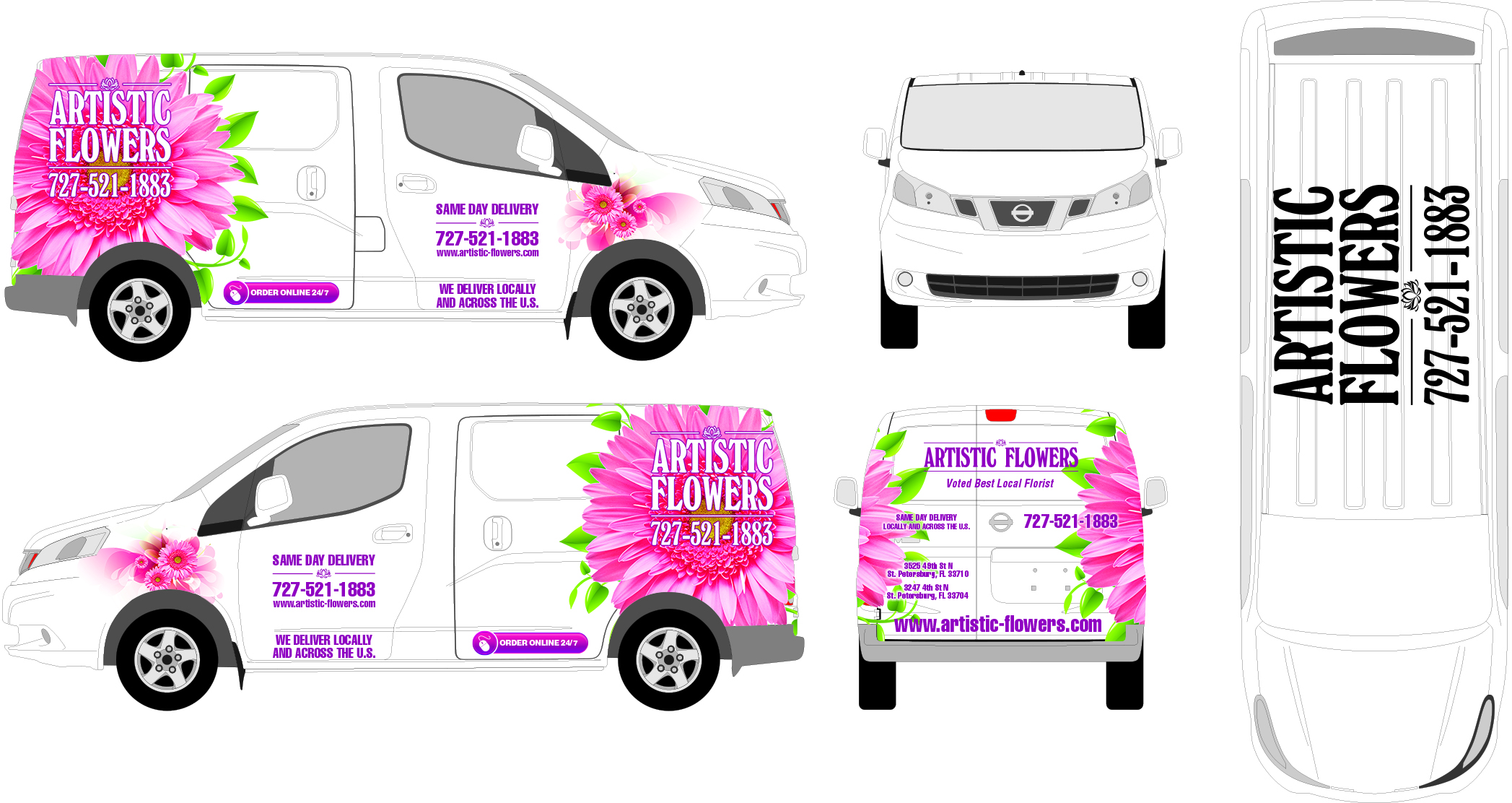 Artistic-Flowers-Full-Vehicle